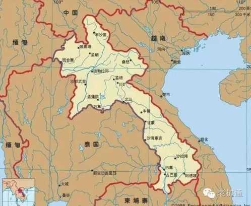 老挝旅游地图中文版