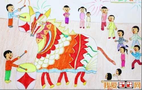 过年画怎么画 过新年儿童画图片欣赏