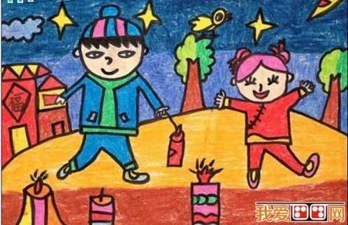 过年画怎么画 过新年儿童画图片欣赏图片