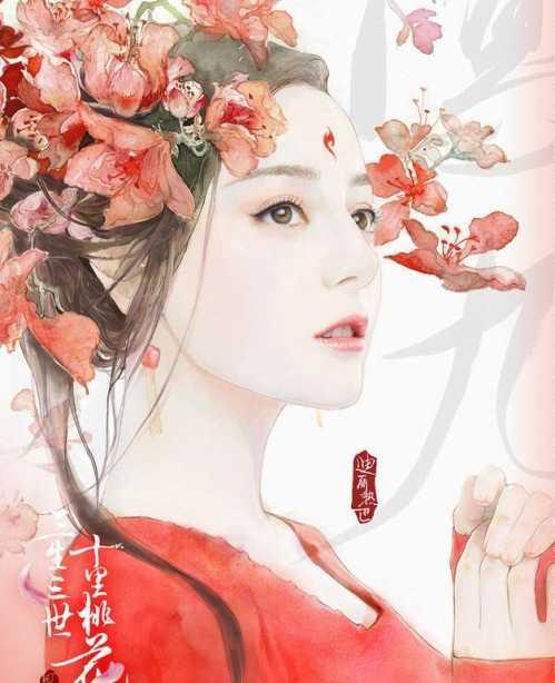 赵丽颖手绘唯美的图片 女星的唯美手绘图