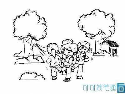 小朋友怎样的做游戏 小朋友做游戏的简笔画