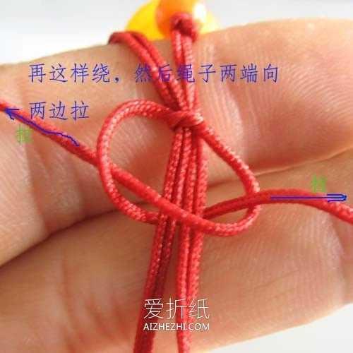 绳子松紧扣 怎么编织串珠手链活扣松紧调节扣的编法