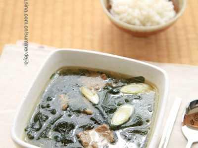 韩式海带汤 韩国妇女产后一定要喝的汤——韩国海带汤
